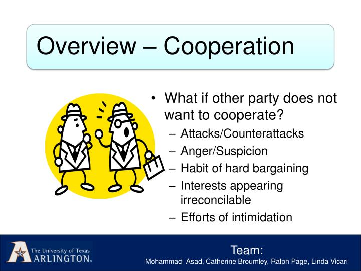 What if other party does not want to cooperate?