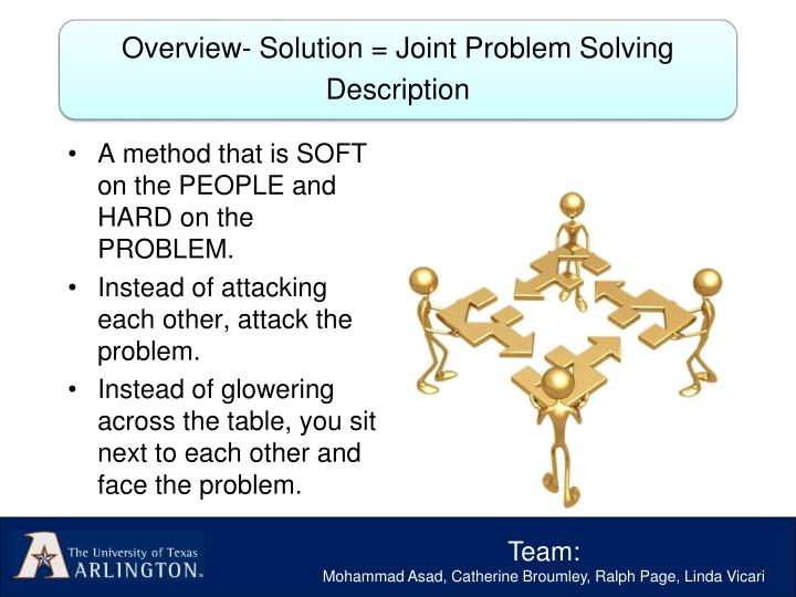 A method that is SOFT on the PEOPLE and HARD on the PROBLEM.