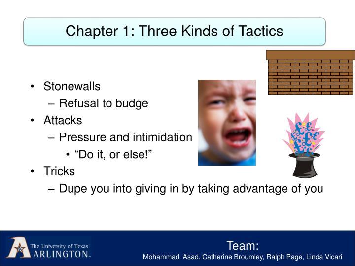 Chapter 1: Three Kinds of Tactics