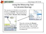using the measuring tool to calculate bearings