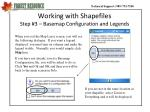 working with shapefiles step 3 basemap configuration and legends