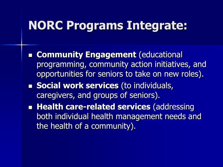NORC Programs Integrate: