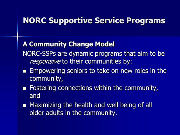 NORC Supportive Service Programs