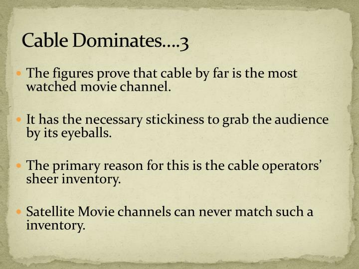 Cable Dominates….3