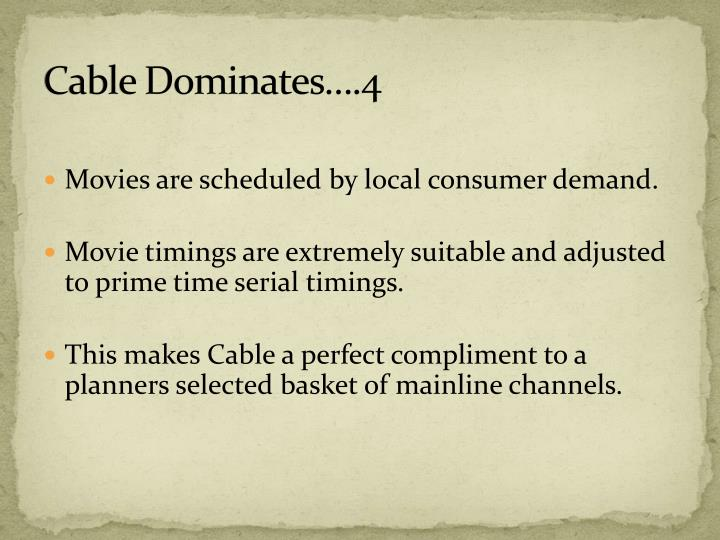 Cable Dominates….4