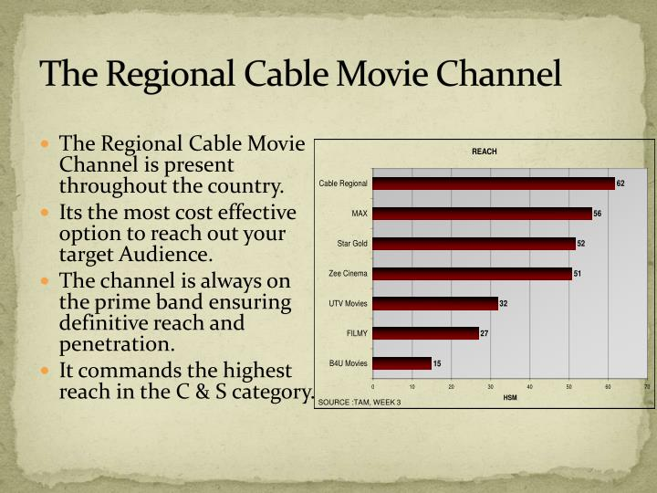 The regional cable movie channel