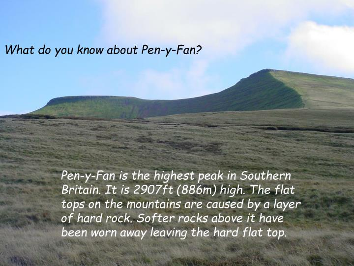 What do you know about Pen-y-Fan?