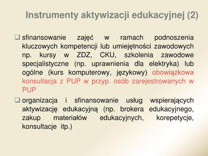 Instrumenty aktywizacji edukacyjnej (2)