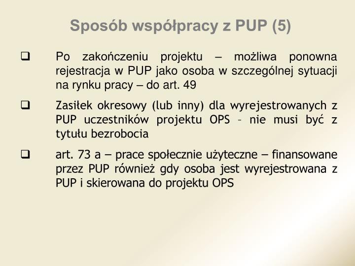 Sposób współpracy z PUP (5)