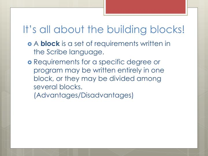 It's all about the building blocks!