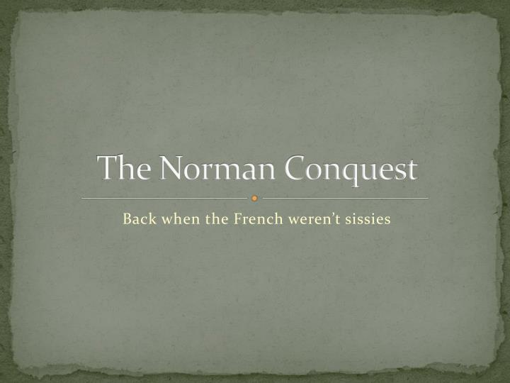 the norman conquest n.