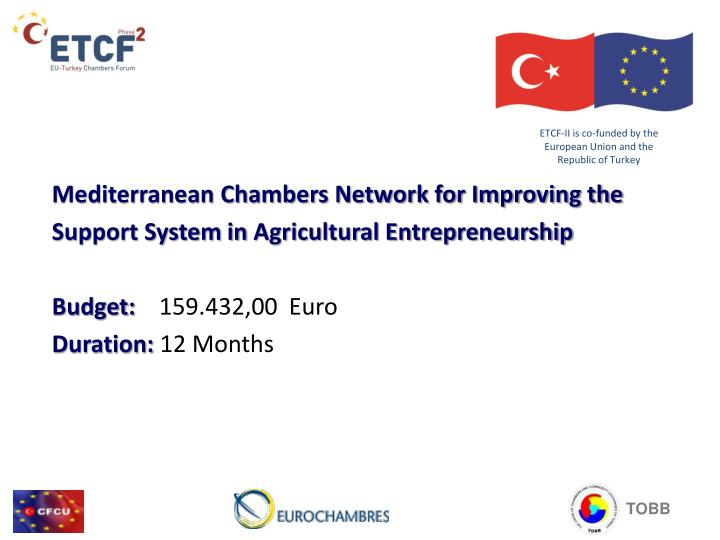 Etcf ii is co funded by the european union and the republic of turkey2