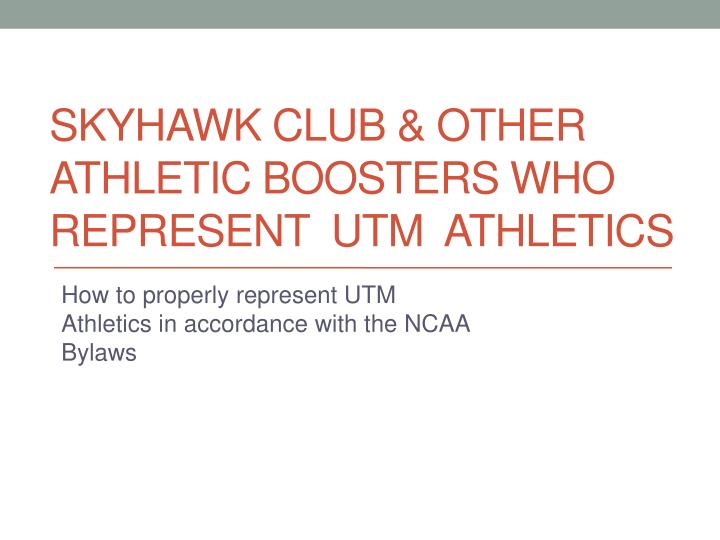 skyhawk club other athletic boosters who represent utm athletics n.