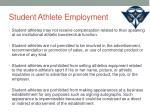 student athlete employment1