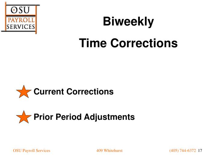 Current Corrections
