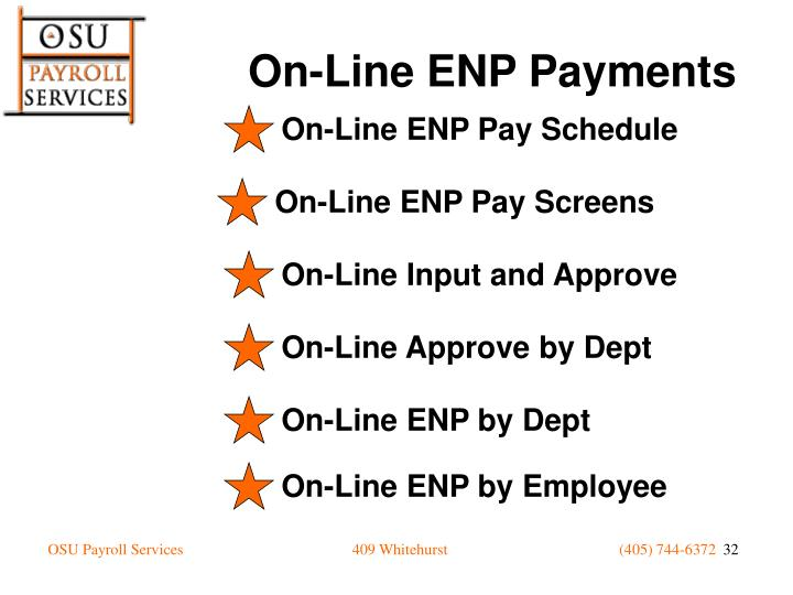 On-Line ENP Pay Schedule