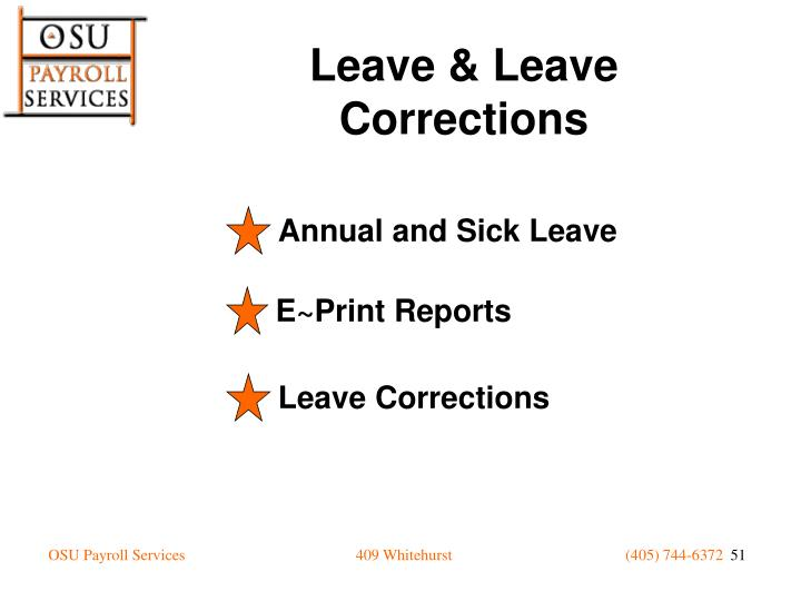 Annual and Sick Leave