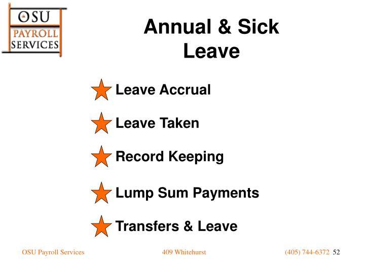 Leave Accrual