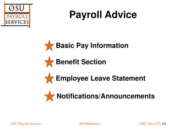 Basic Pay Information