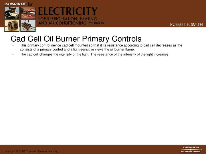 Cad Cell Oil Burner Primary Controls