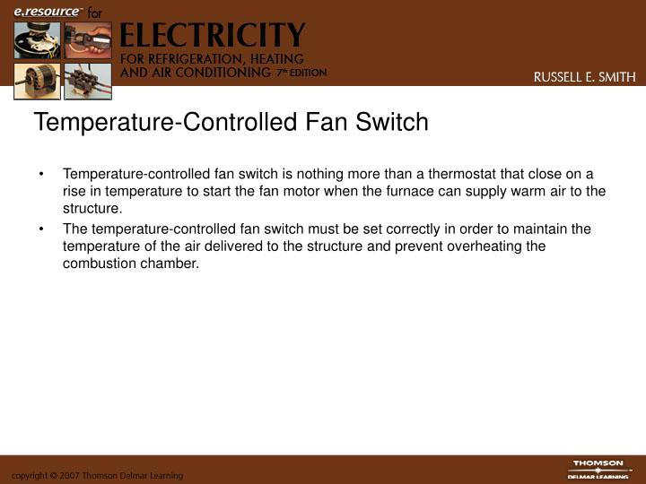 Temperature-Controlled Fan Switch