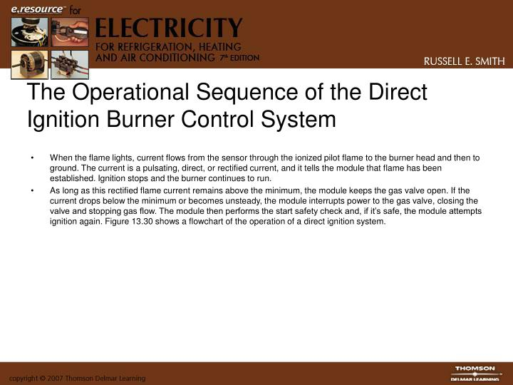 The Operational Sequence of the Direct Ignition Burner Control System