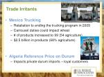 trade irritants
