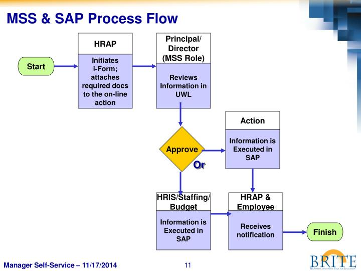 MSS & SAP Process Flow