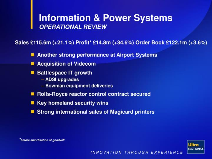 Information & Power Systems