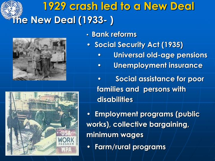 1929 crash led to a New Deal