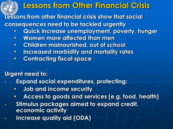 Lessons from Other Financial Crisis