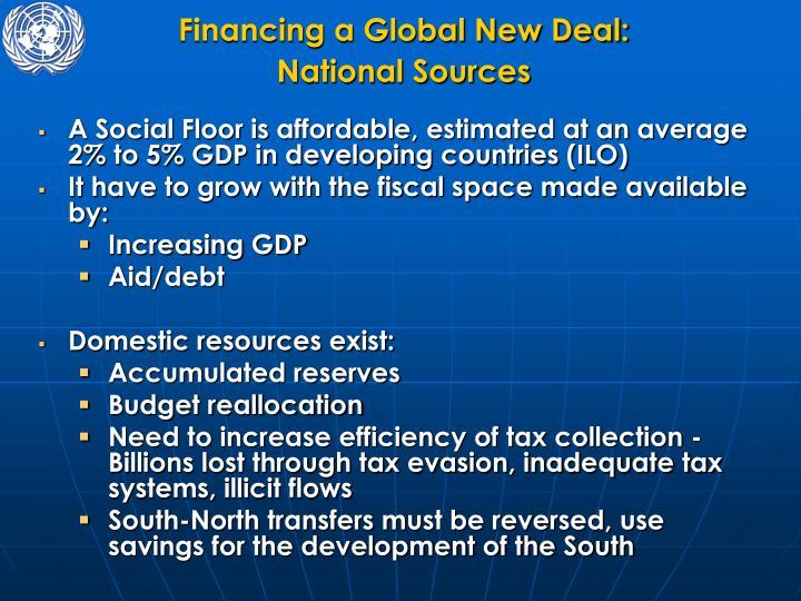 Financing a Global New Deal: