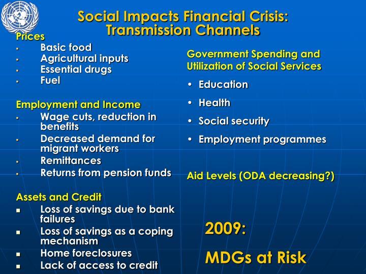 Social Impacts Financial Crisis:
