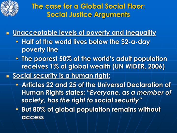 The case for a Global Social Floor: