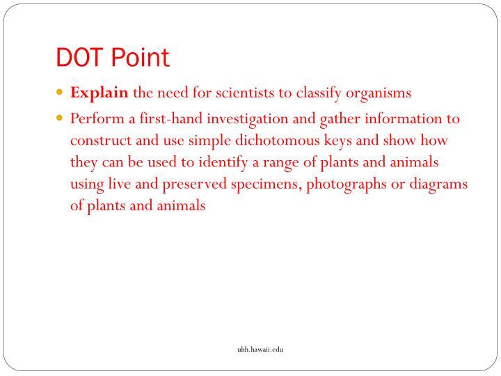 Dot point