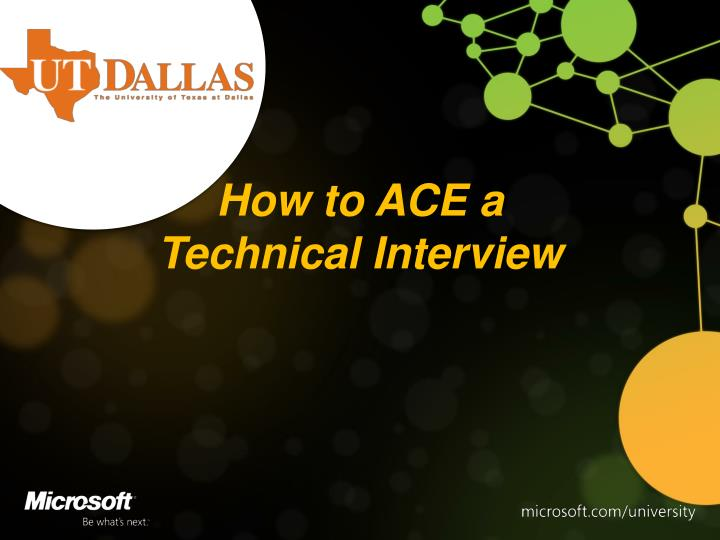How to ace a technical interview