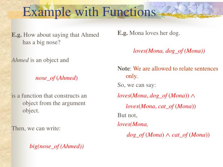 Example with Functions