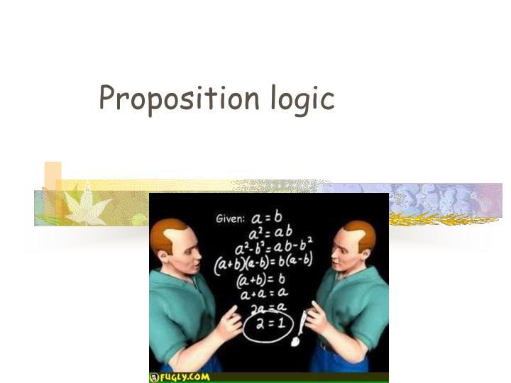 Proposition logic