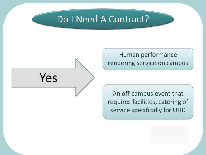 Do I Need A Contract?