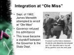 integration at ole miss