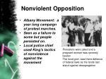 nonviolent opposition