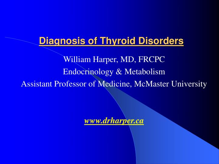diagnosis of thyroid disorders n.