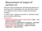measurement of output of services 3