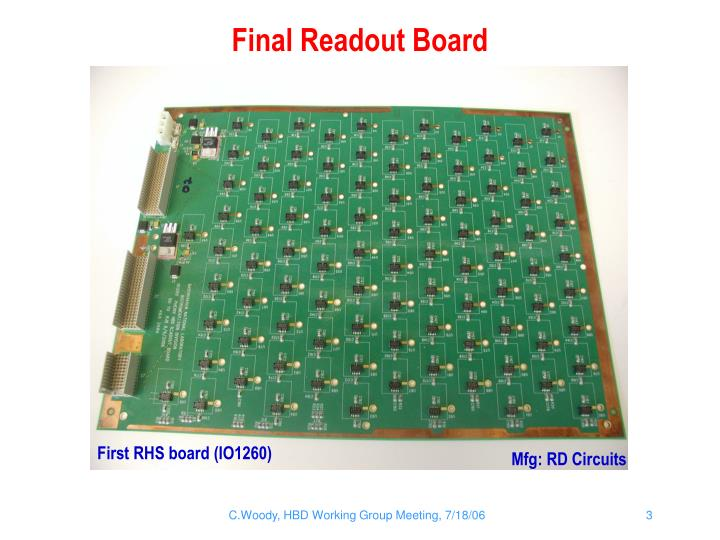 Final readout board