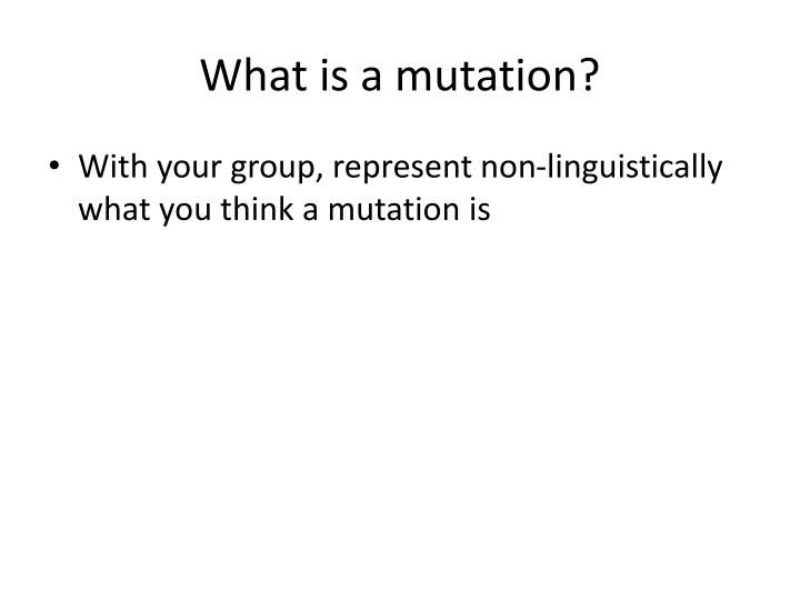 What is a mutation