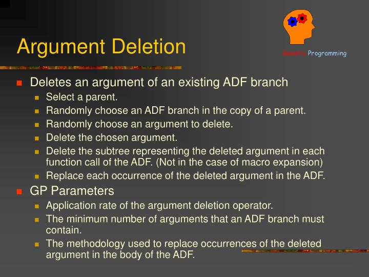 Argument Deletion