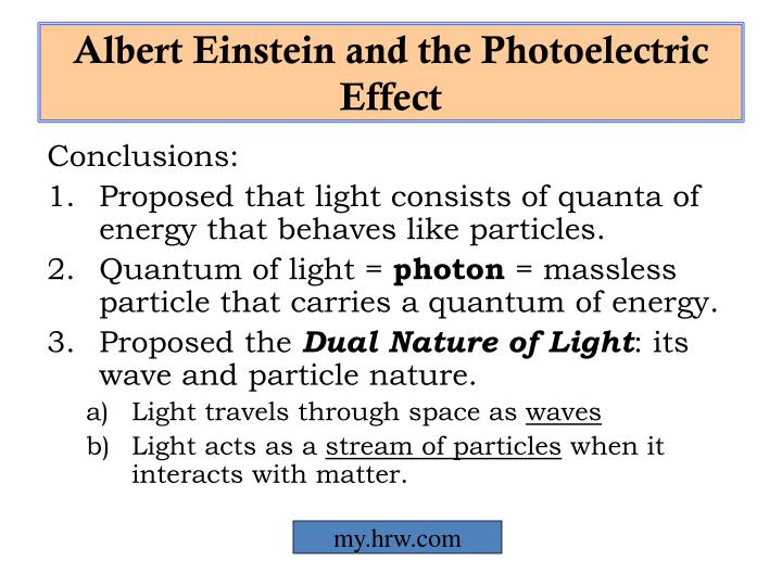Albert Einstein and the Photoelectric Effect