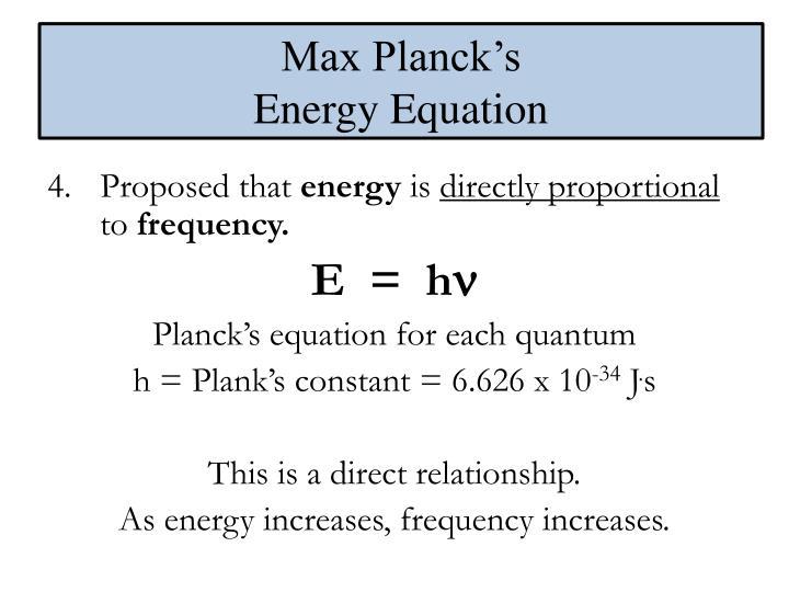 Max Planck's
