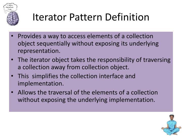 Iterator Pattern Definition