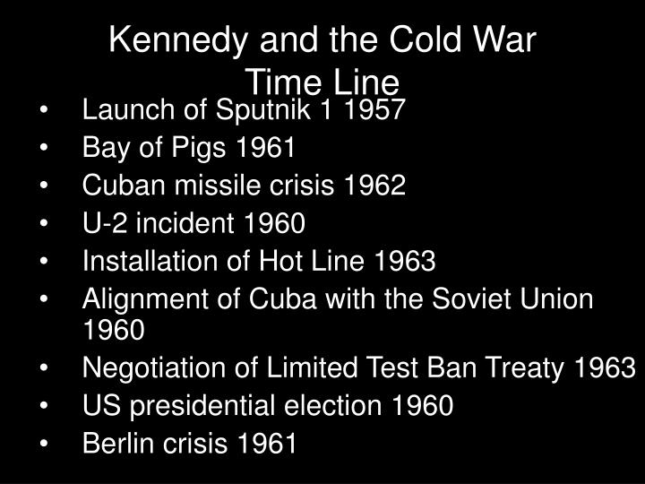 Kennedy and the cold war time line1